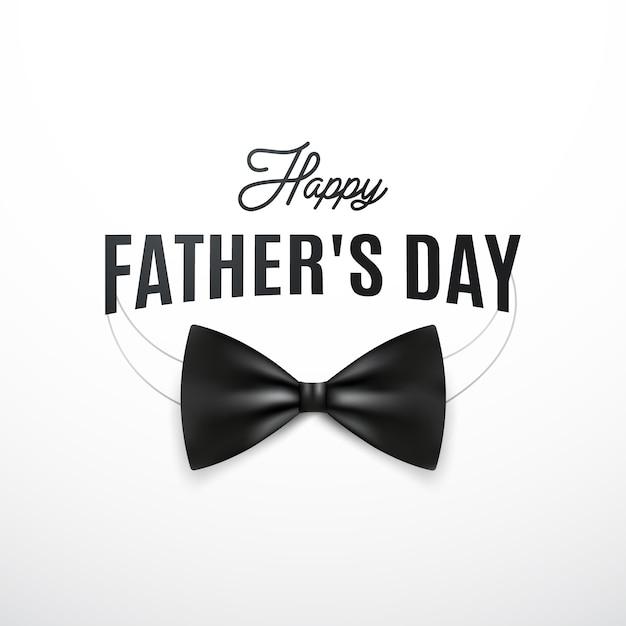 Cartolina d'auguri di felice giorno di padri con baffi retrò e il testo. Vettore Premium