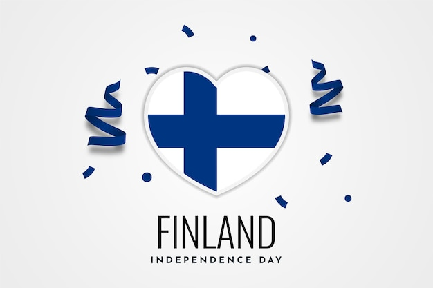 Felice finlandia independence day celebration illustration template design Vettore Premium
