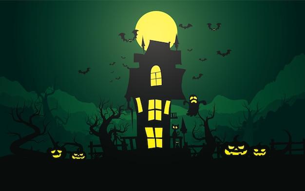 Priorità bassa felice di halloween, halloween. Vettore Premium