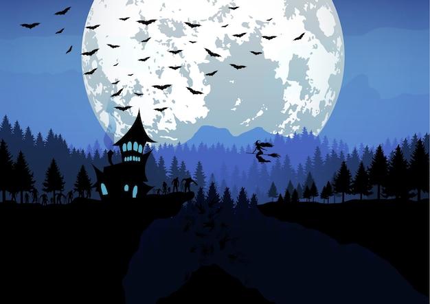 Illustrazione di halloween felice. Vettore Premium