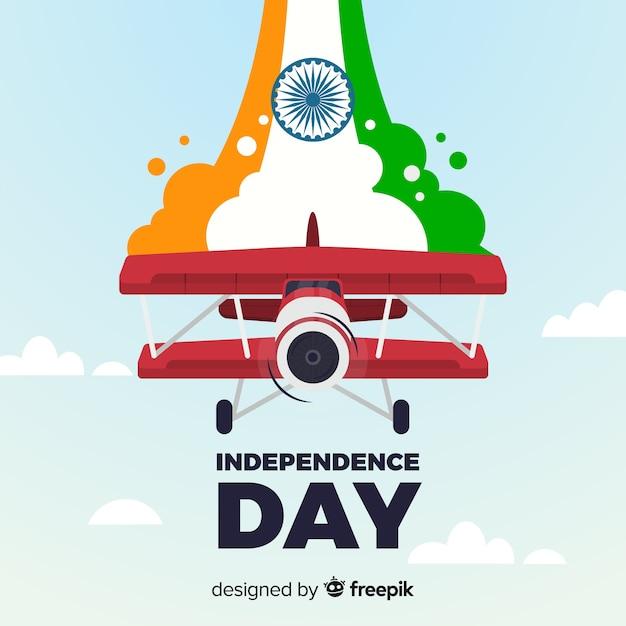 Felice festa dell'indipendenza indiana sfondo Vettore Premium