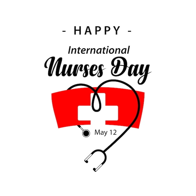 Progettazione felice del modello di vettore di giorno delle infermiere internazionali Vettore Premium