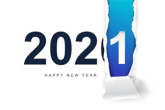 Felice anno nuovo 2021 sfondo Vettore Premium