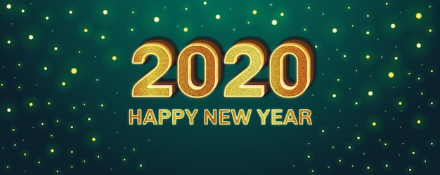 Effetto carattere modificabile di felice anno nuovo Vettore Premium