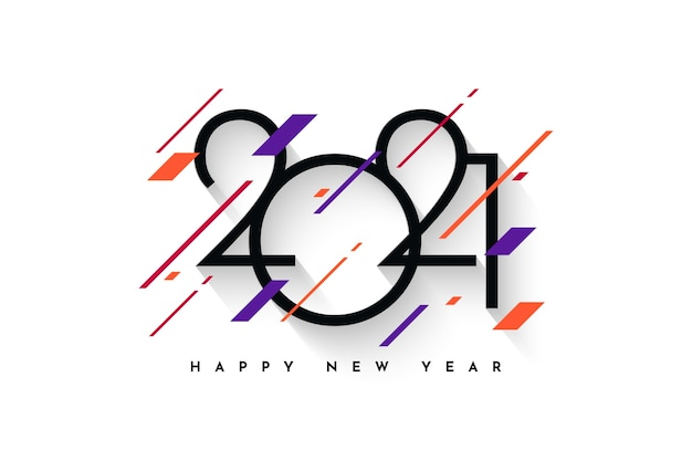 Felice anno nuovo saluto celebrazione Vettore Premium