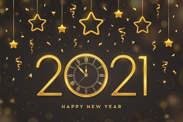Felice anno nuovo illustrazione Vettore Premium