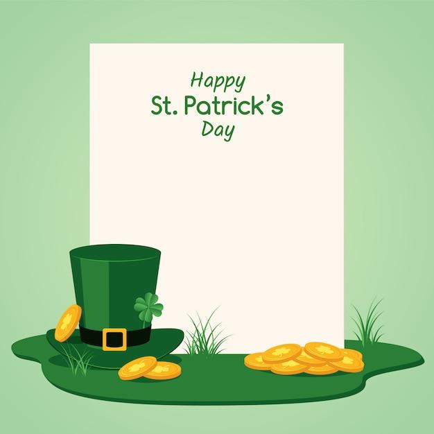 Striscione di congratulazioni happy st patrick day Vettore Premium