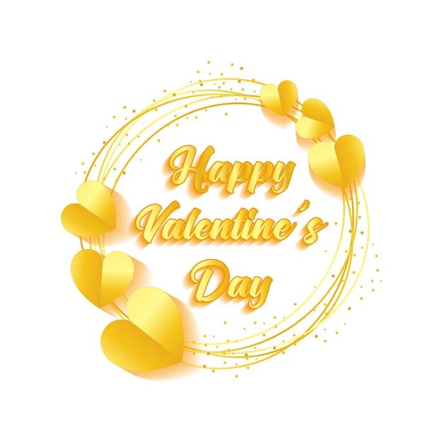 Buon san valentino con il cerchio Vettore Premium