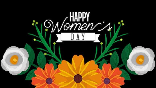 Carta di giorno delle donne felice Vettore Premium