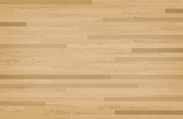 Campo da basket in acero di legno duro. Vettore Premium