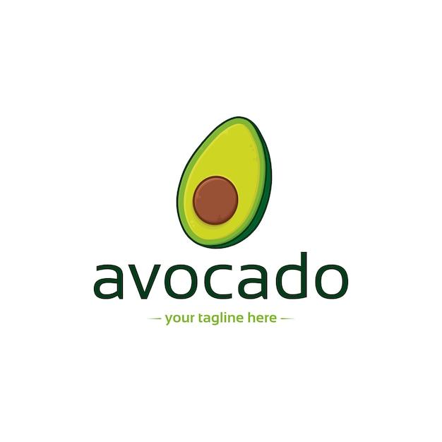 Modello di logo di avocado sano Vettore Premium