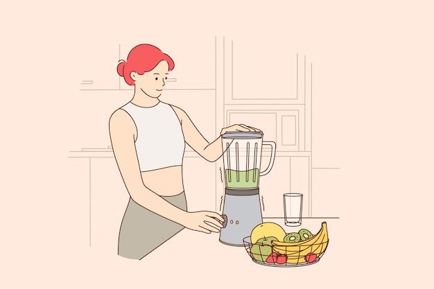 Mangiare sano, dieta vegetariana, concetto di mangiare pulito Vettore Premium