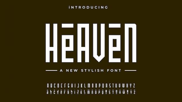 Heaven alphabet font Vettore Premium
