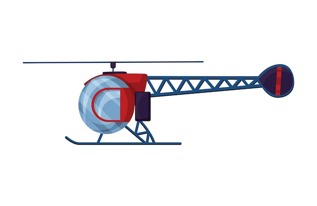 Aviazione del fumetto dell'elicottero. Vettore Premium