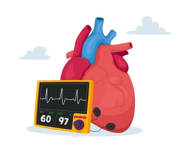 Colesterolo alto pressione sanguigna e concetto di aterosclerosi Vettore Premium