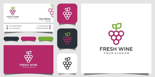 Icona di stile piatto di alta qualità illustrazione del simbolo dell'uva isolato Vettore Premium