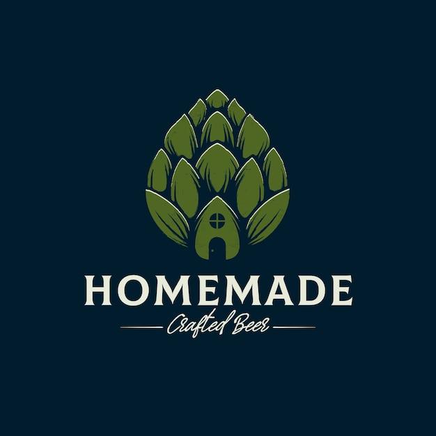 Modello di logo di birra fatta in casa Vettore Premium