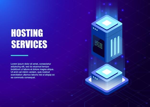Modello di servizi di hosting Vettore Premium