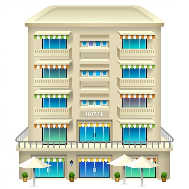 Icona dell'hotel. illustrazione . Vettore Premium