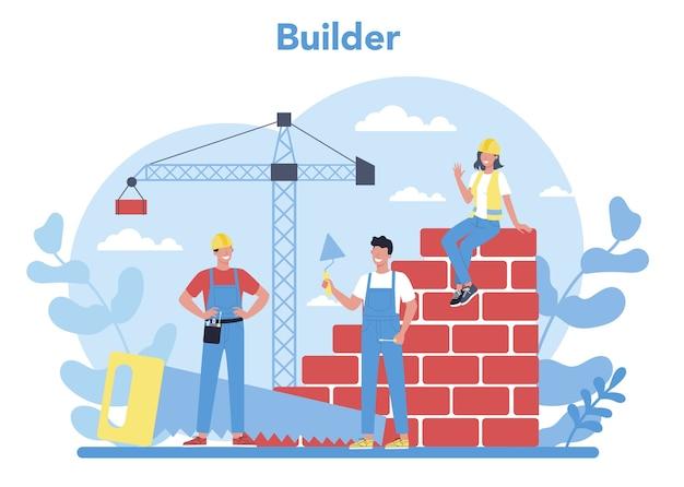 Concetto di costruzione di una casa Vettore Premium