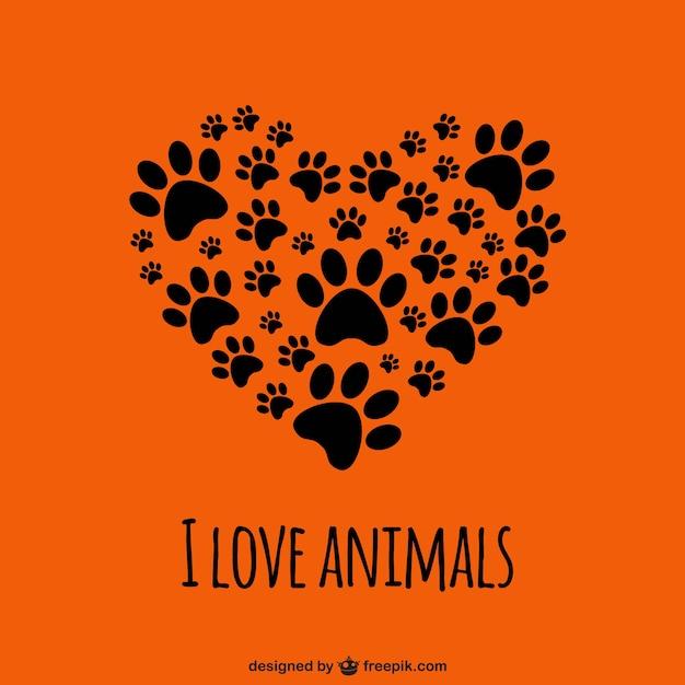 Amo gli animali template Vettore Premium