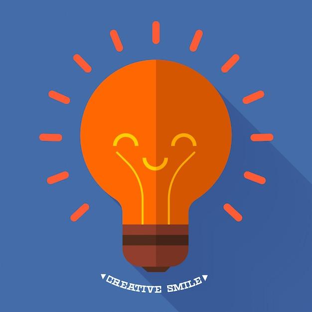 Icone idea design piatto illustrazioni. Vettore Premium