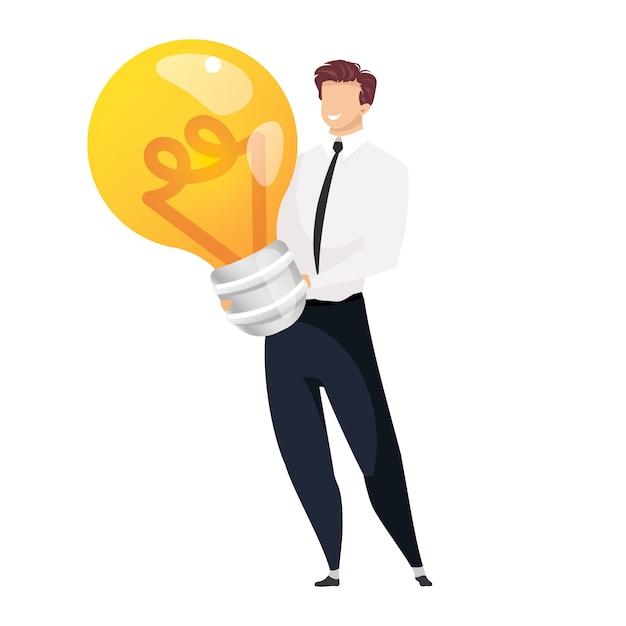 Illustrazione di concetto di generazione dell'idea Vettore Premium