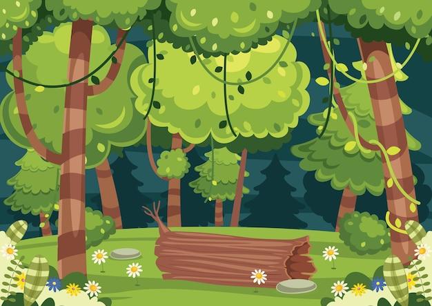 Illustrazione del paesaggio colorato Vettore Premium
