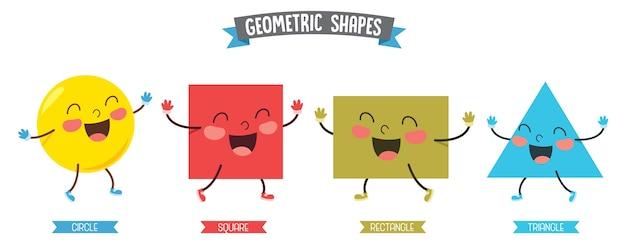 Illustrazione di forme geometriche Vettore Premium