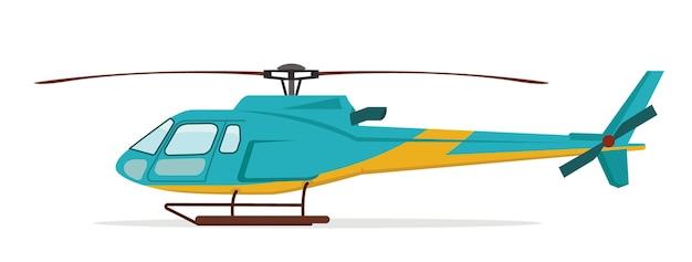 Illustrazione dell'elicottero Vettore Premium