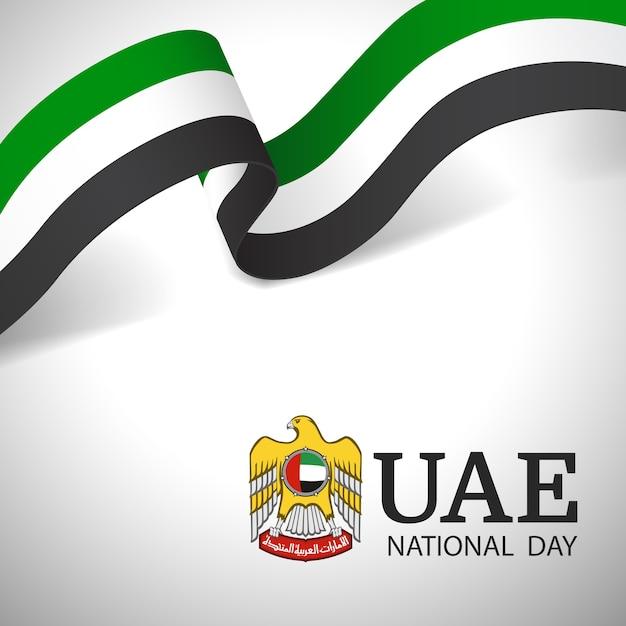 Illustrazione della giornata nazionale emirati arabi uniti. Vettore Premium