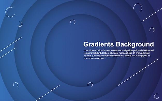Grafico di vettore dell'illustrazione di colore astratto di pendenze del fondo Vettore Premium