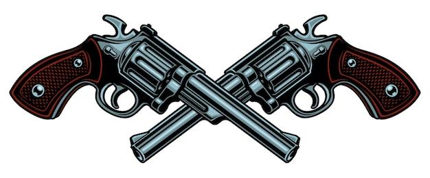 Illustrazione con le pistole. Vettore Premium
