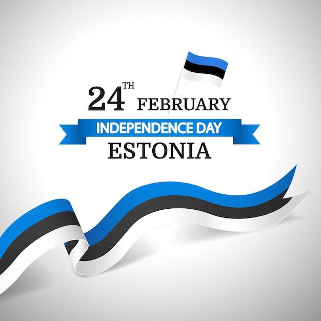 Giorno dell'indipendenza dell'estonia. Vettore Premium