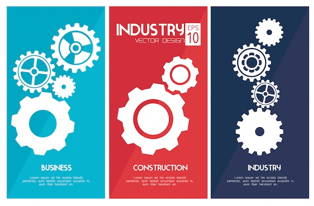 Design industriale Vettore Premium