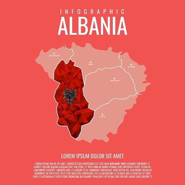 Infografica albania Vettore Premium