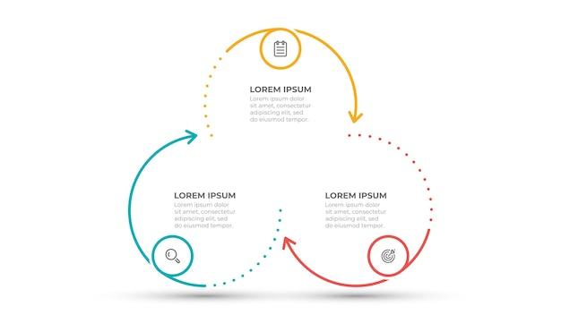 Modello di processo aziendale infografica Vettore Premium
