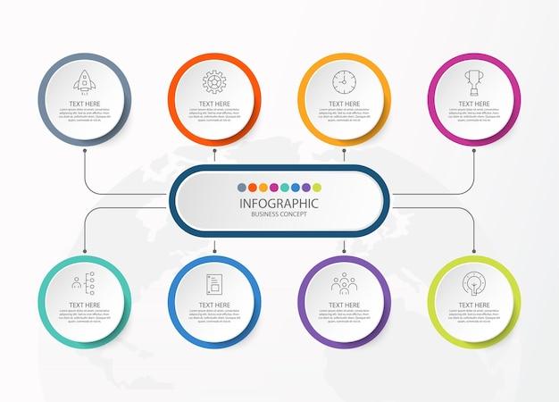 Illustrazione del grafico infografico Vettore Premium