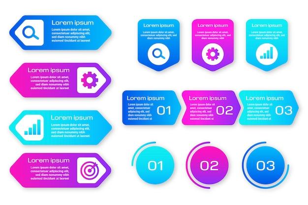 Pacchetto di elementi infografici Vettore Premium