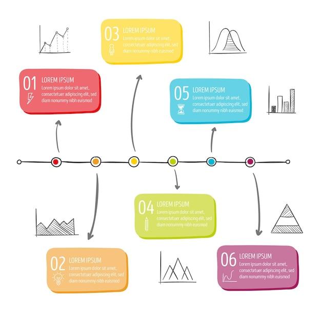 Raccolta di elementi di infografica Vettore Premium