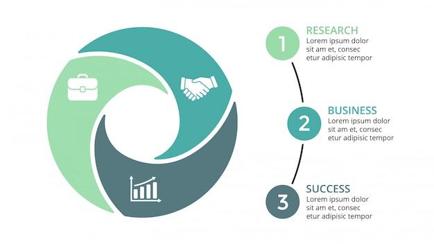 Infografica per il concetto di business. progettazione isometrica infografica - Vettore Premium