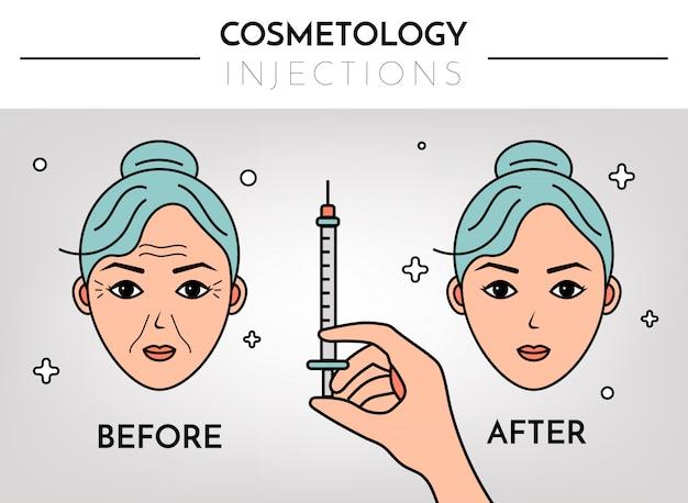 Infografica per cosmetologia Vettore Premium