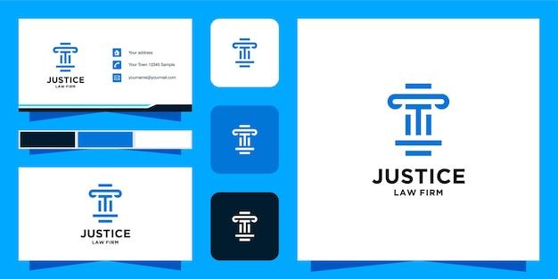 Modello di logo e biglietto da visita initial t studio legale Vettore Premium