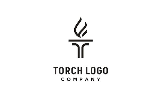 Logo t iniziale per torcia Vettore Premium