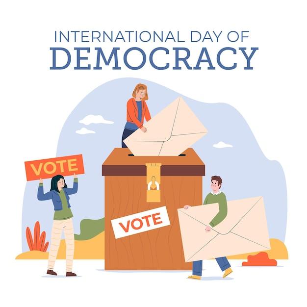 Giornata internazionale della democrazia Vettore Premium