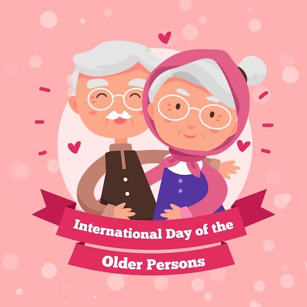 Giornata internazionale delle persone anziane Vettore Premium