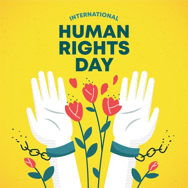Giornata internazionale dei diritti umani Vettore Premium
