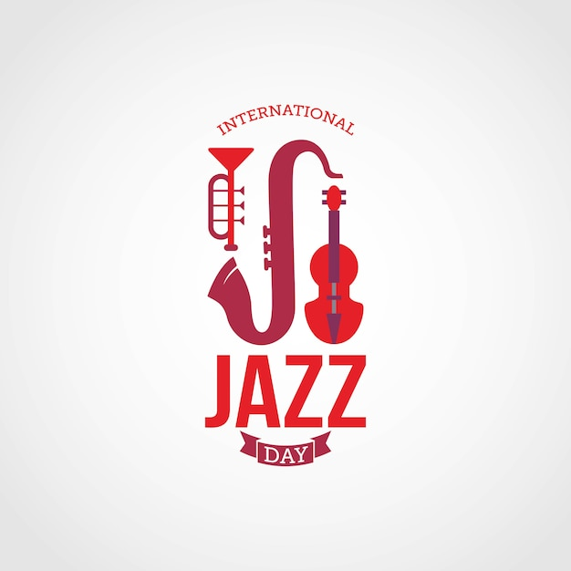 Giornata internazionale del jazz Vettore Premium