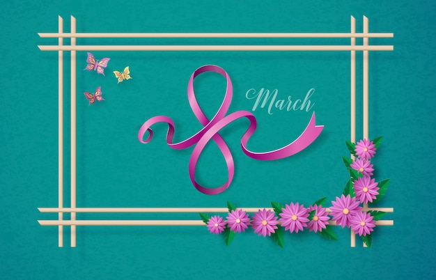 Illustrazione della giornata internazionale della donna Vettore Premium