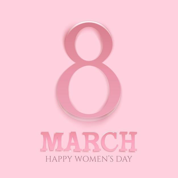 Sfondo della giornata internazionale della donna. modello di biglietto di auguri. Vettore Premium
